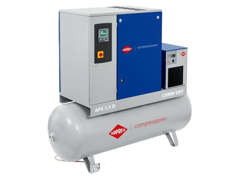 Compresseur à vis APS 7.5D Combi Dry 10 bar 7.5 cv/5.5 kW 670 l/min 500 L