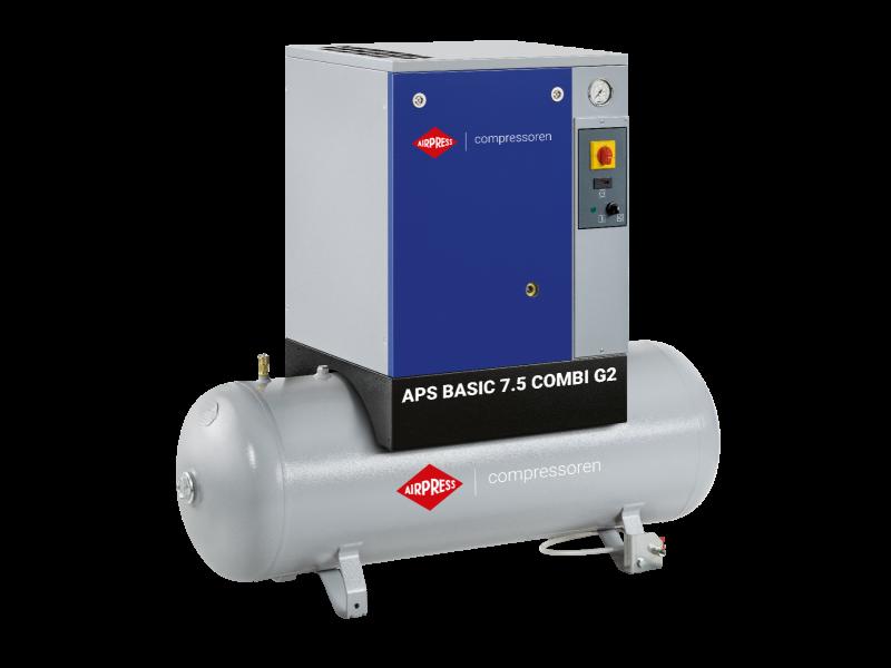 Compresseur à vis APS 7.5 Basic G2 Combi 10 bar 7.5 ch/5.5 kW 780 l/min 200 L