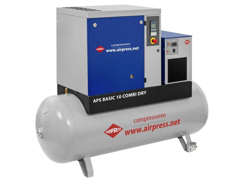 Compresseur à vis APS 10 Basic Combi Dry 8 bar 10 cv/7.5 kW 1140 l/min 500 L