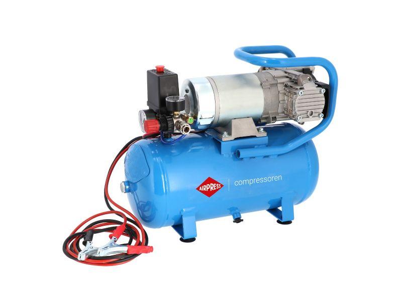 Mini Compresseur Silencieux Sans Huile DC 24-225/15 10 bar 0.75 ch/0.55 kW 180 l/min 15 L 24V