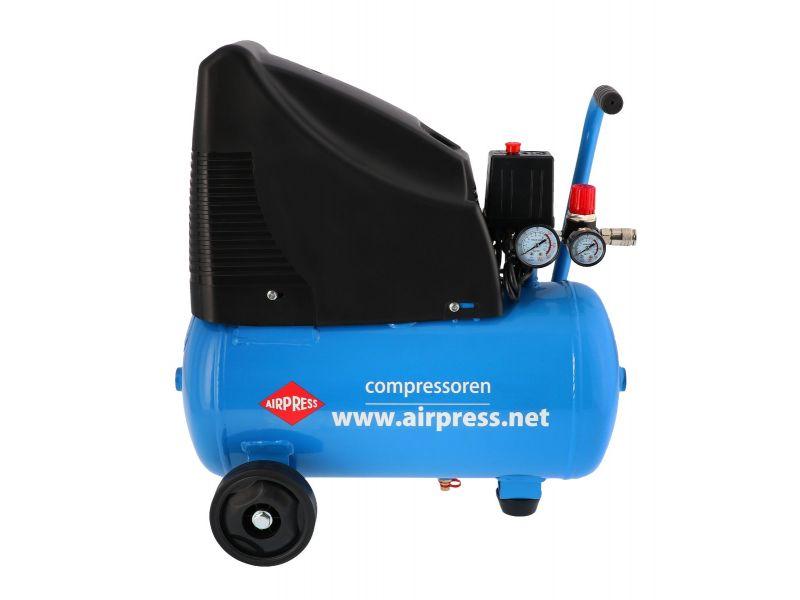 Compresseur HLO 215-25 8 bar 1.5 cv/1.1 kW 172 l/min 24 L et 5 accessoires
