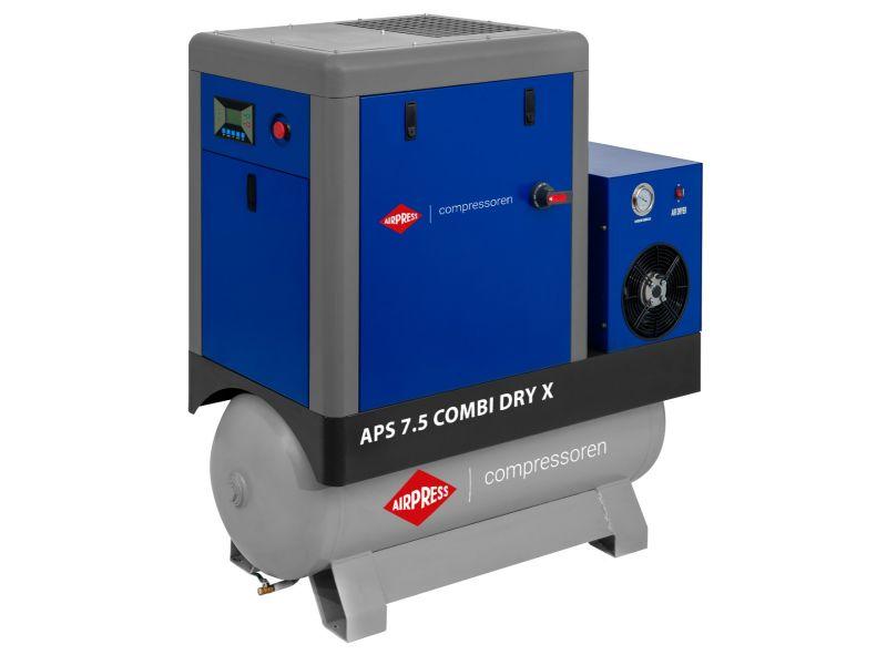 Compresseur à vis APS-X 7.5 Combi Dry 10 bar 7.5 ch/5.5 kW 690 l/min 200 L