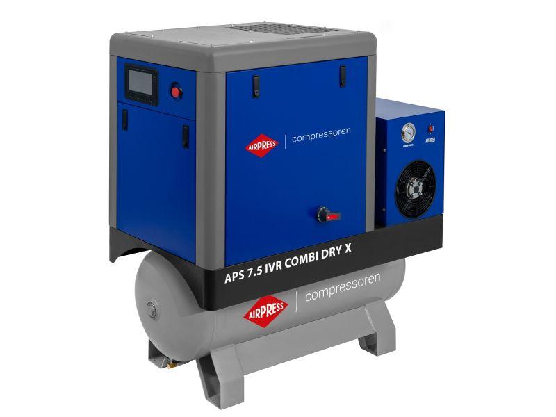 Compresseur à vis APS-X 7.5 IVR Combi Dry Onduleur 10 bar 7.5 ch/5.5 kW 290-690 l/min 200 L