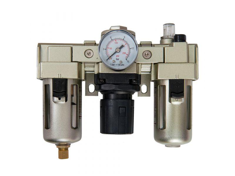 Filtre huileur régulateur de pression 500 l/min 25 microns 10 bar 1/4