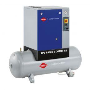Compresseur à vis APS 3 Basic G2 Combi 10 bar 3 cv/2.2 kW 294 l/min 200 L