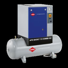 Screw Compressor APS 7.5 Basic Combi G2 10 bar 7.5 hp 600 l/min 200 l