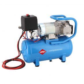 Compresseur 12V Silencieux Sans Huile DC 12-180/15 10 bar 0.75 cv/0.55 kW 144 l/min 15L