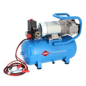 Mini Compresseur Silencieux Sans Huile DC 24-225/15 10 bar 0.75 cv/0.55 kW 180 l/min 15 L 24V