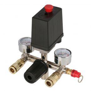 Pressostat, reducteur de pression et manomètres pour compresseur HL 275-50