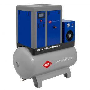Compresseur à vis APS-X 20 IVR Combi Dry Onduleur 10 bar 20 ch/15 kW 650-1890 l/min 500 L