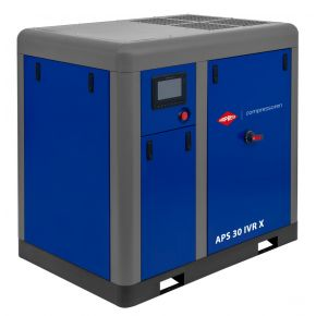 Compresseur à vis APS 30 IVR X Onduleur 10 bar 30 cv/22 kW 730-2950 l/min