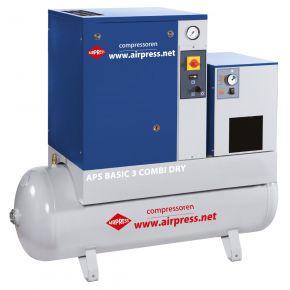 Compresseur à vis APS 3 Basic Combi Dry 10 bar 3 cv 240 l/min 200 l