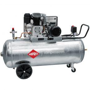 Compresseur G 600-200 Pro 10 bar 4 cv/3 kW 380 l/min 200 L Cuve galvanisée