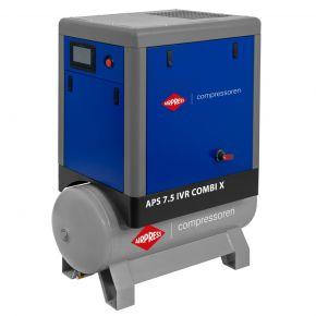Compresseur à vis APS 7.5 IVR Combi X Onduleur 10 bar 7.5 cv/5.5 kW 170-690 l/min 200 L