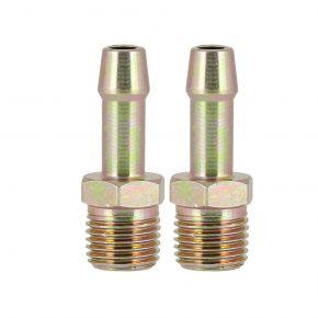 2 Embouts pneumatiques pour tuyau 8 mm vers Filetage Mâle 1/4