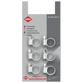 Colliers de serrage 10-16 mm - 6 pièces sous blister