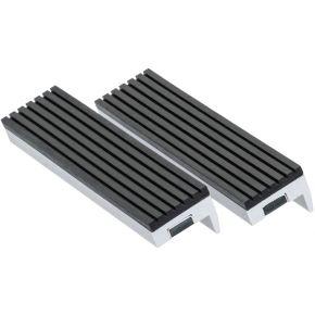 Mâchoires de protection magnétique type caoutchouc 125 mm