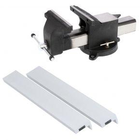 Étau 250 x 265 mm et mâchoires de protection en aluminium 250 mm - Plug & Play