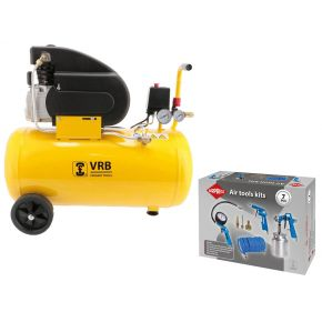 Compresseur LC50-2.0 VRB 8 bar 2 cv/1.5 kW 160 l/min 50 l Plug & Play Pack
