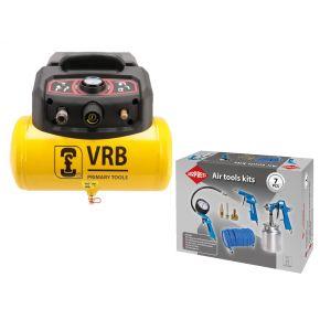 Compresseur LC6-1.5 VRB 8 bar 1.5 cv/1.1 kW 129 l/min 6 l Plug & Play Pack