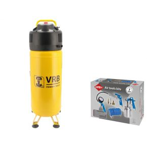 Compresseur LCV50-2.0 VRB 10 bar 2 cv/1.5 kW 166 l/min 50 l Plug & Play Pack
