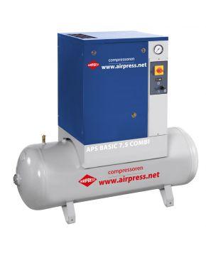 Compresseur à vis APS 7.5 Basic Combi 10 bar 7.5 cv 600 l/min 200 l