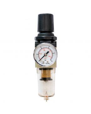 """Séparateur huile/au et détendeur 1/4"""" 10 bar 25 micron"""