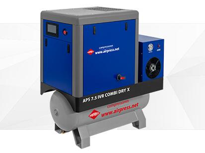 Airpress Série-X Compresseur à vis 7-5 IVR Combi Dry
